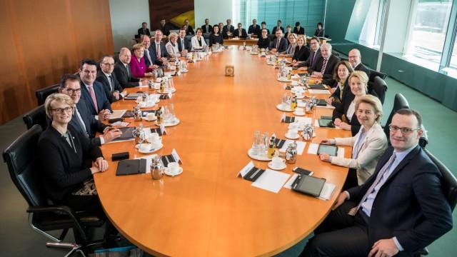 Kabinettsfoto Große Koalitiion 2018