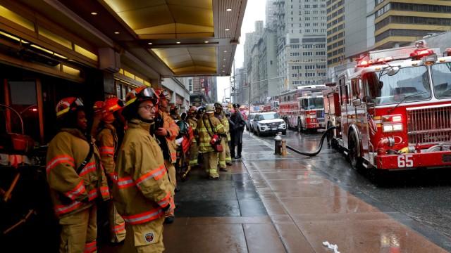 Manhattan Unfall in New York City