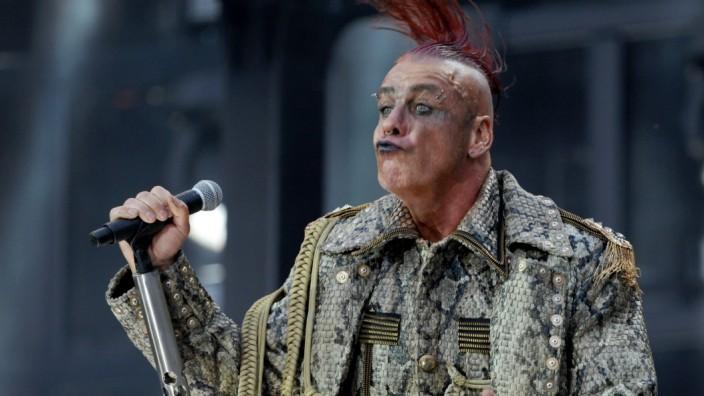 Sänger Till Lindemann in München, 2019