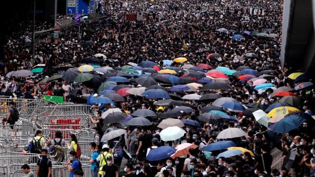 Hongkong Gesetz China Demonstration