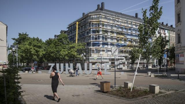 Zuhause Schriftbild in Chemnitz, 2017