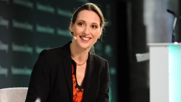 Valerie Holsboer auf dem SZ-Wirtschaftsgipfel in Berlin, 2018