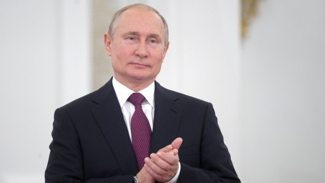 Russian President Putin attends an awarding ceremony marking the Day of Russia in Moscow