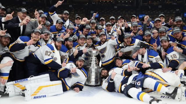 St. Louis Blues feiert den Stanley Cup 2019