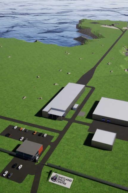 Shetland Raketenstartplatz