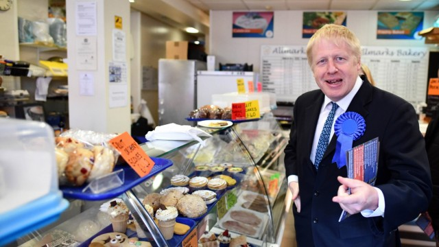 27 04 2019 Walsall United Kingdom Boris Johnson Campaigning for Local Elections Former Foreig
