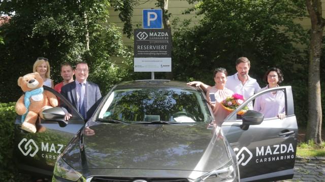 Hallbergmoos Reservierter Parkplatz in Rathausnähe