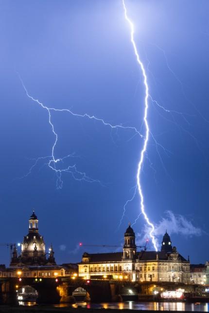 Gewitter in Dresden