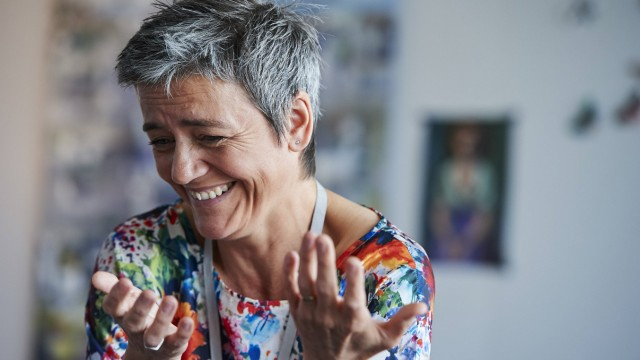 Belgium Brussels June 10 2015 Interview with Margrethe Vestager European commissioner for Co