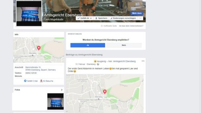 Amtsgericht Facebook Fake Ebersberg