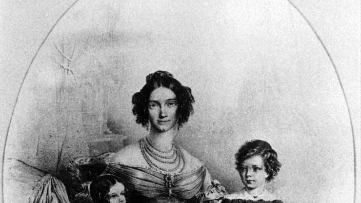 Herzogin Ludowika, Herzogin in Bayern, mit ihren Töchtern, 1837