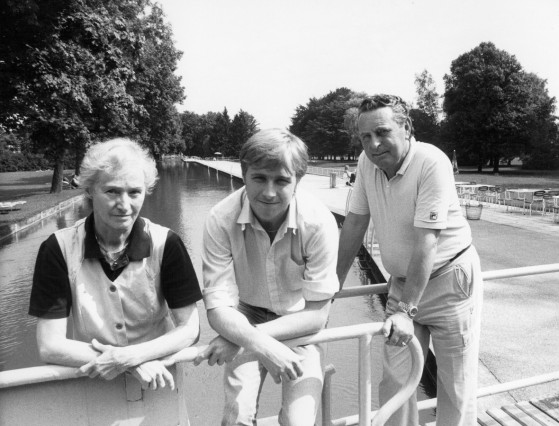 Anna, Klaus und Arthur Doppelhamer, Besitzer des Freibades St. Floriansmühle