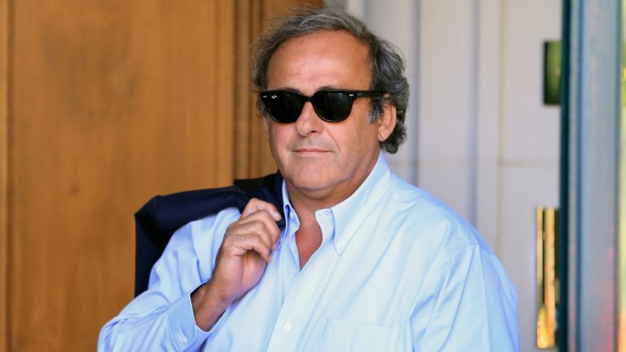 FILE PHOTO: Platini arrives at the Court of Arbitration for Sport in Lausanne