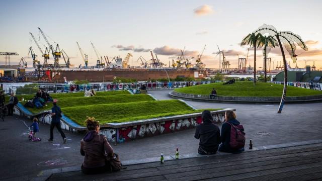 Park Park Fiction 03 10 2016 Hamburg Der Park Fiction befindet sich zwischen dem St Pauli Fis