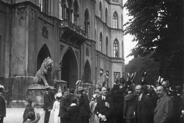 Kriegsbegeisterung in München, 1914