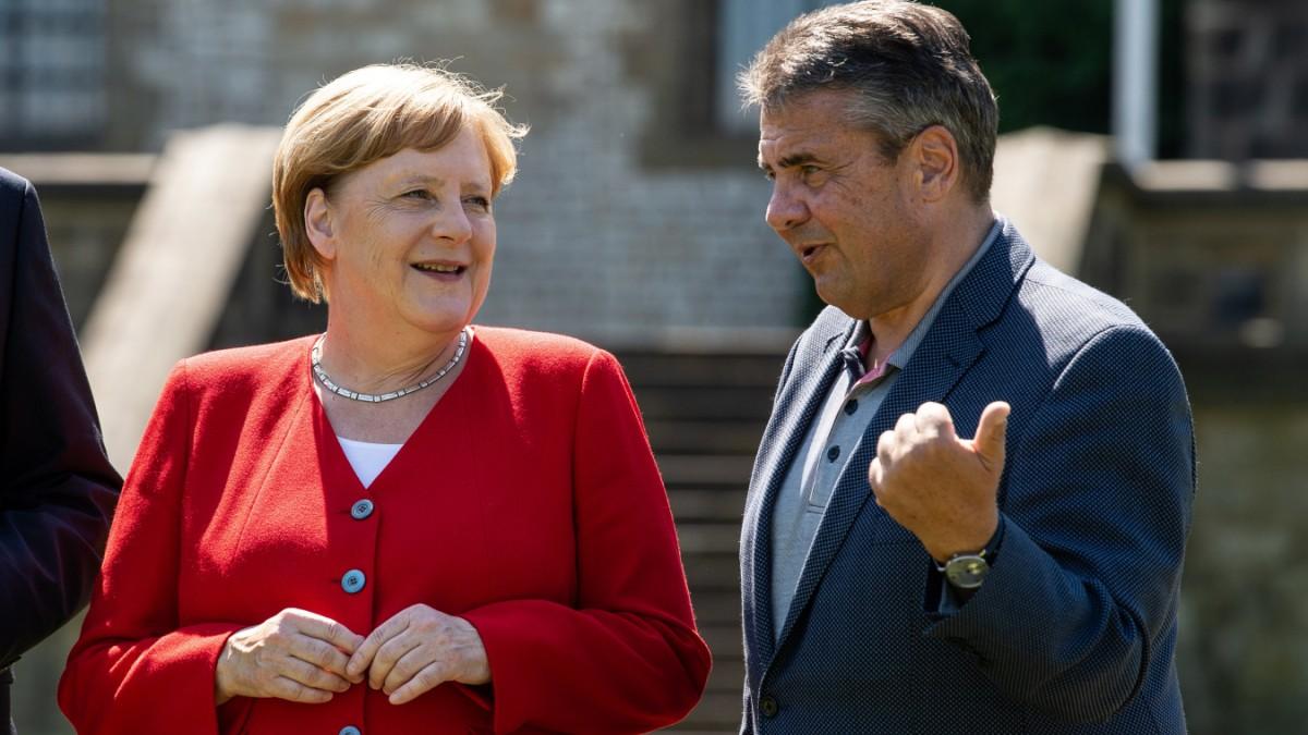 Angela Merkel und Sigmar Gabriel - ein seltsames Paar