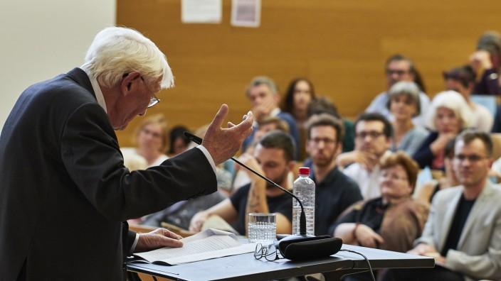 Vortrag von Jürgen Habermas am 19.6.2019 an der Goethe-Universität Frankfurt, Foto: Jürgen Lecher.