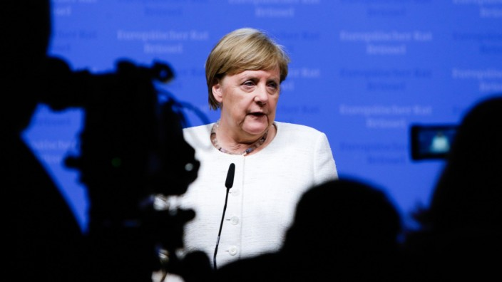 Angela Merkel auf dem EU-Gipfel im Juni 2019