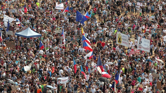Protest rally demanding resignation of Czech Prime Minister Andrej Babis in Prague