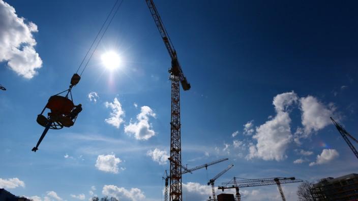 Wohnungsbau Baustelle in München