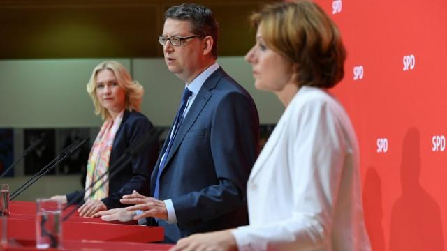Leadership of Germany's Social Democrats (SPD) meets in Berlin