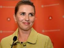 FILE PHOTO: Danish Social Democratic leader Mette Frederiksen