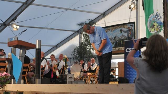 Markus Söder im Festzelt Thanning