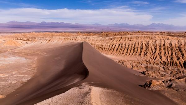 Das Valle de la Luna liegt in Chile in der Atacama-Wüste.