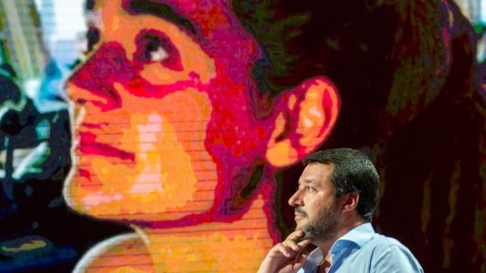 Italiens Innenminister Salvini spricht in TV-Sendung