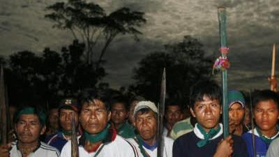 Indio-Proteste in Peru