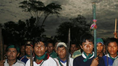Indio-Proteste in Peru