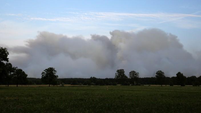 Seit Samstag brennt der Wald nahe Lübtheen.