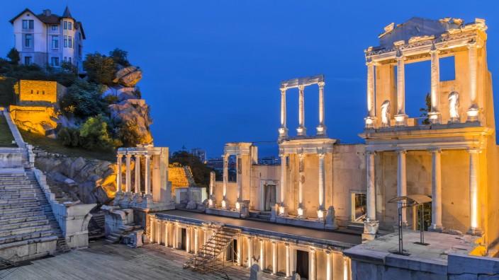 Das römische Amphitheater von Plowdiw wird für Konzerte genutzt.