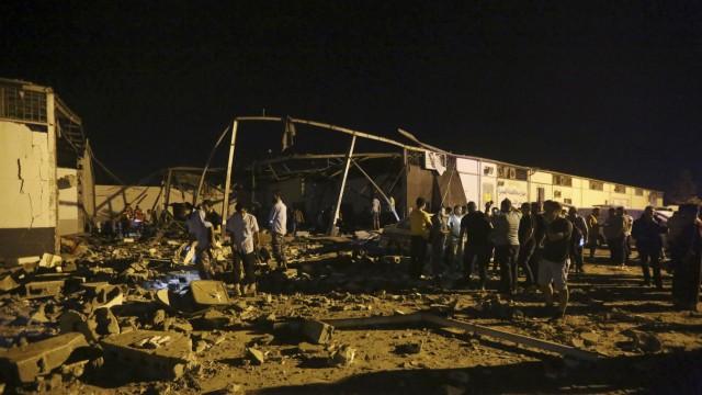 Angriff auf Migrantenzentrum in Libyen