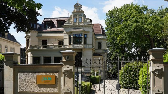 Sächsische Landesmediensanstalt Das Grundstück und Gebäude der Sächsische Landesanstalt für privaten
