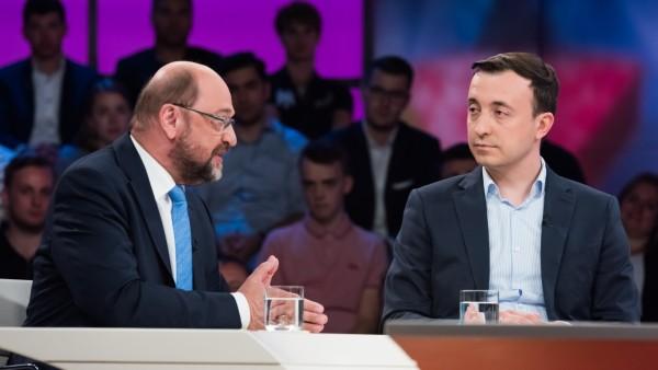 Martin Schulz und Paul Ziemiak bei Maybrit Illner