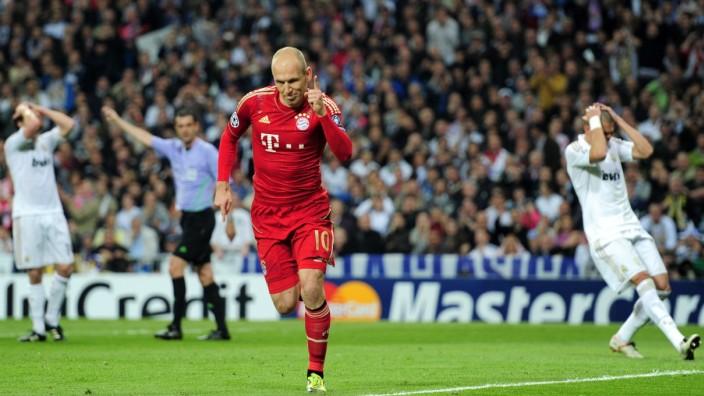 Arjen Robben trifft gegen Real Madrid 2012 in der Champions League