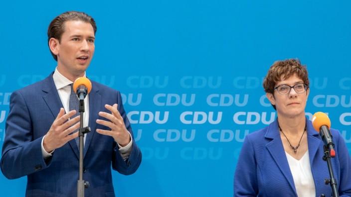 Sebastian Kurz (ÖVP) und Annegret Kramp-Karrenbauer (CDU) in Berlin
