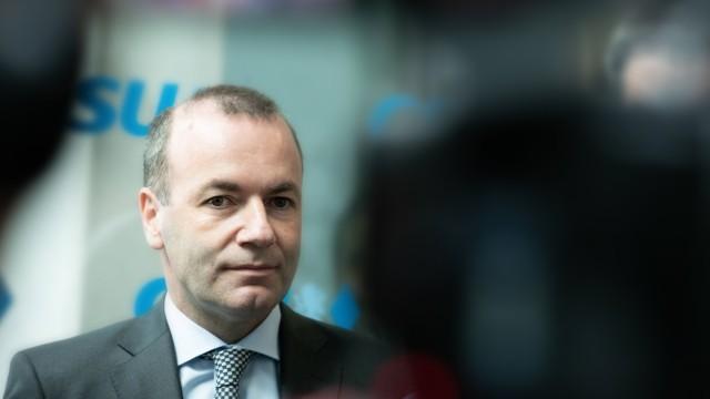 Vorstandssitzung der CSU am 6 5 2019 EVP EPP Spitzenkandidat Manfred Weber Die Christlich Sozia