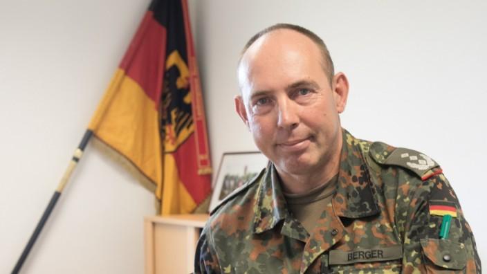Reservist für die Bundeswehr Stefan Berger, Fürst-Wrede Kaserne, Ingolstädter Str. 240