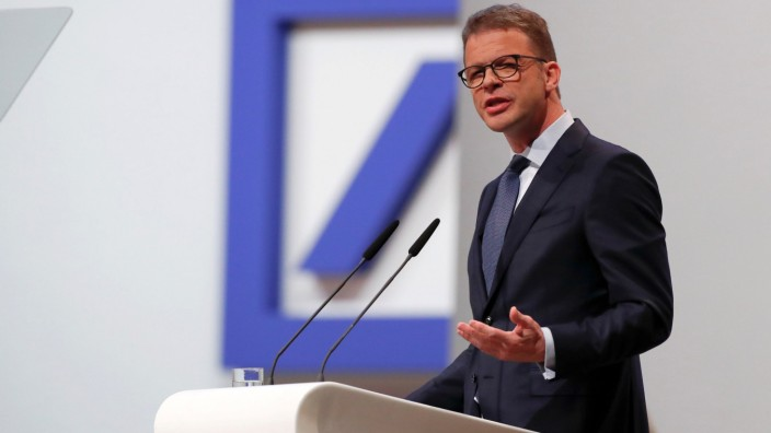 FILE PHOTO: CEO Sewing attends the annual shareholder meeting of Deutsche Bank in Frankfurt
