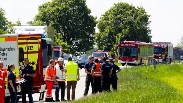 Schwerer Busunfall Glonn-Georgenberg