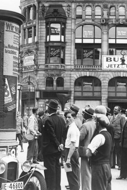 Wahlplakate im Vorfeld der Reichstagswahl, 1932