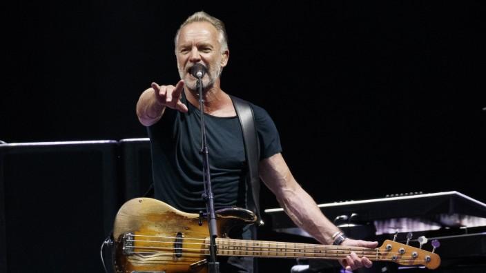 Sting während der 'My Songs' Tour