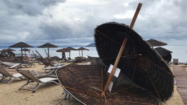 Griechenland - Schäden nach einem Unwetter auf Chalkidiki 2019