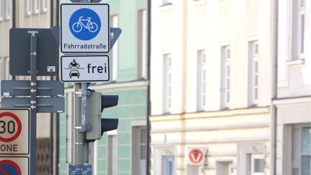 Fahrradstraße in München, 2013