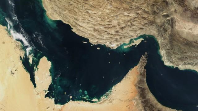 Straße von Hormus in einer Satellitenaufnahme