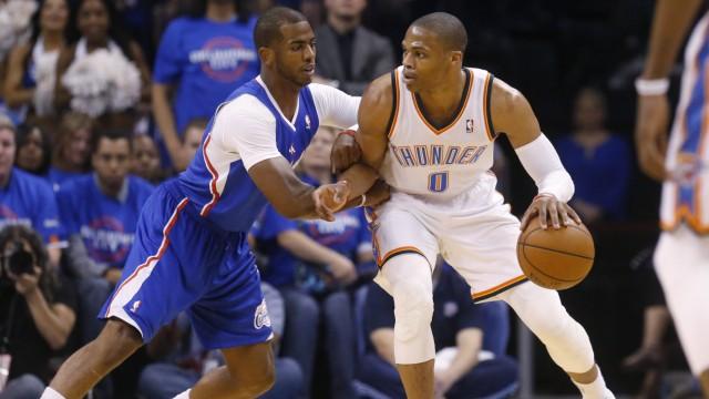 NBA - Russell Westbrook gegen Chris Paul in Oklahoma