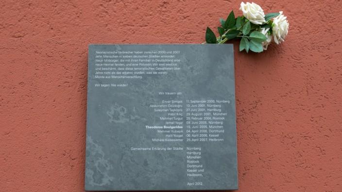 Gedenktafel für NSU-Terroropfer in München, 2018