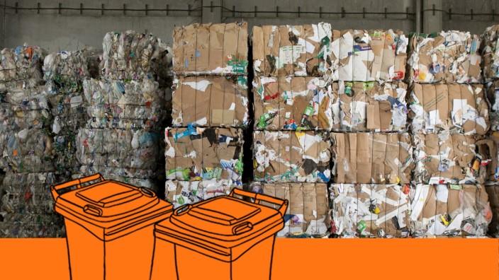 Papiermüll, Zamdorferstraße 16-18 bei der Firma Remondis Trade and Sales